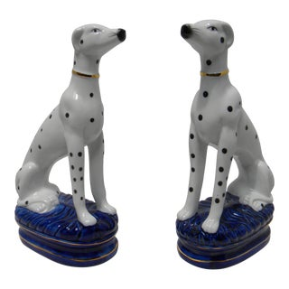 Staffordshire Style Dalmatian Bookends - a Pair For Sale