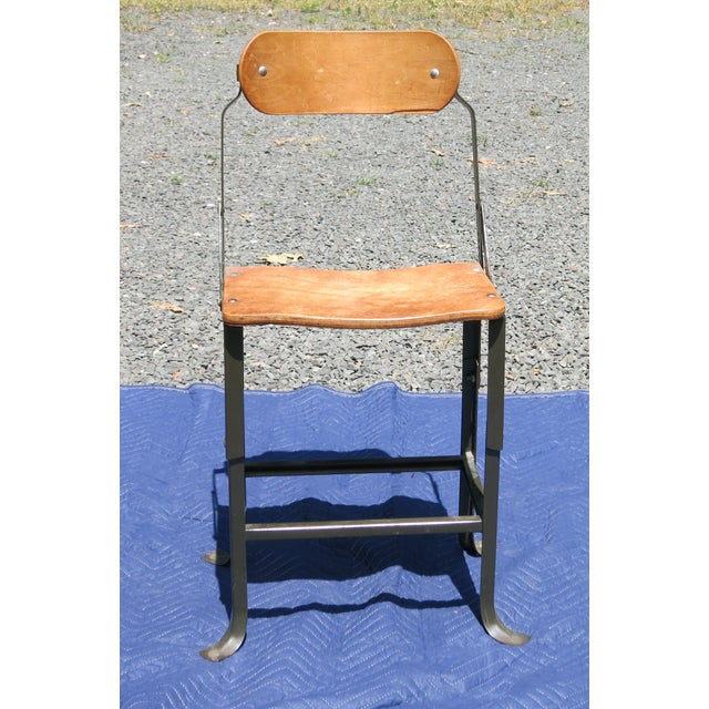 Wood 1940s Vintage Industrial Bent Plywood Chair For Sale - Image 7 of 7