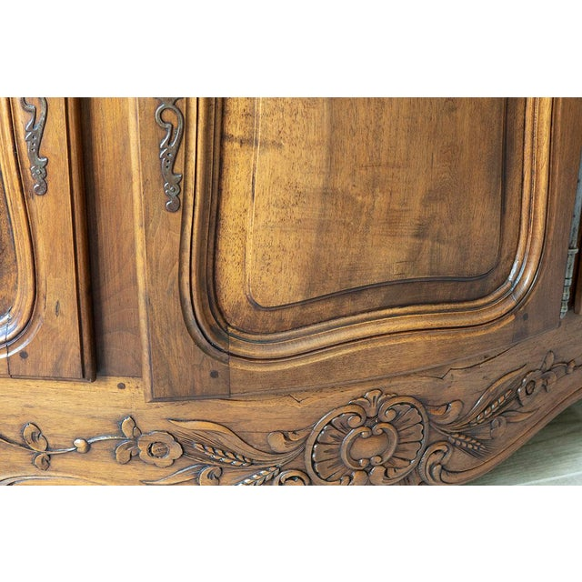 French Antique French Walnut Enfilade 3-Door Sideboard For Sale - Image 3 of 11