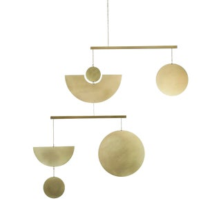 Modern Kinetic Brass Mobile For Sale