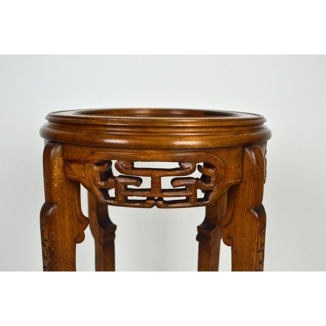 Brown Japonisme Pedestal Table / Pot Stand For Sale - Image 8 of 13