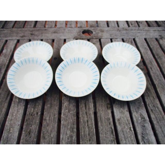 Vintage 1950s Turquoise Starburst Bowls - Set of 6 - Image 5 of 5