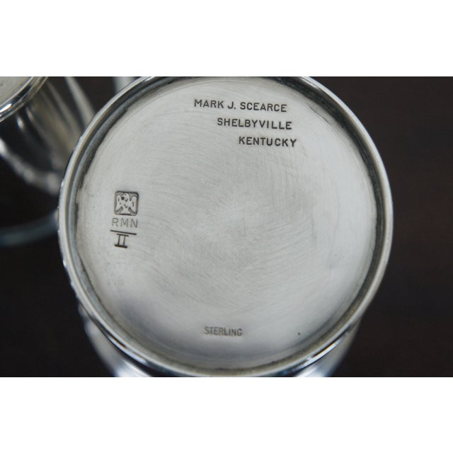 Sterling Silver Mark J Scearce Presidential Mint Julep Cups Richard Nixon Rmn - Set of 3 For Sale - Image 10 of 13