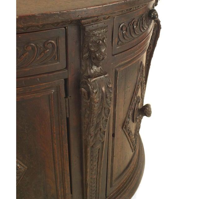 Renaissance Italian Renaissance (17th Century) Demilune Shaped Commode For Sale - Image 3 of 5