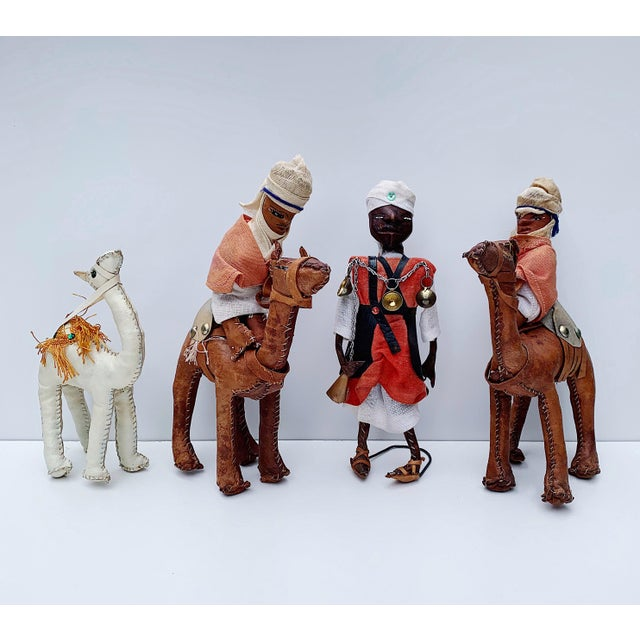 Vintage Middle Eastern Leather Figurines - Set of 4 For Sale - Image 11 of 11