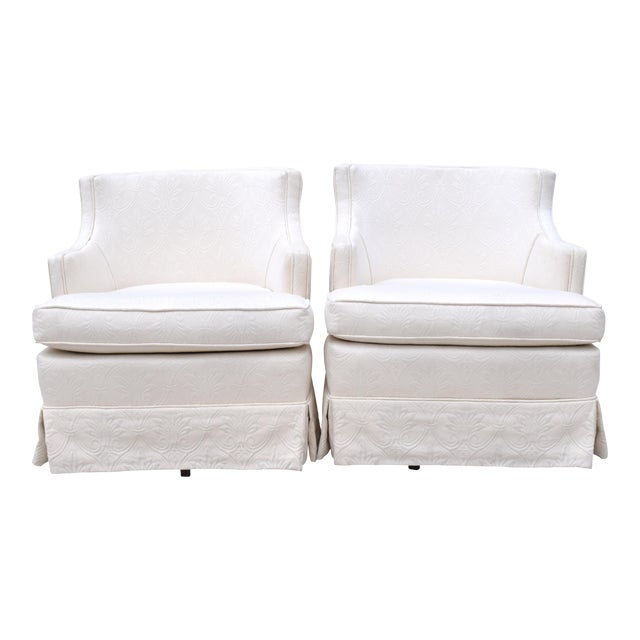 Swivel Rocking Club Chairs - A Pair - Image 1 of 11
