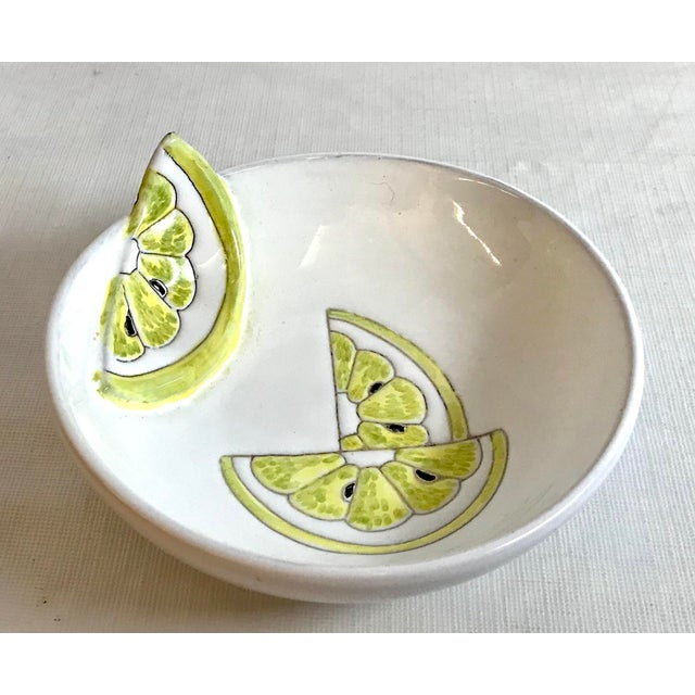 Late 20th Century Vintage Italian Ceramic Lemon Bowl For Sale - Image 4 of 4