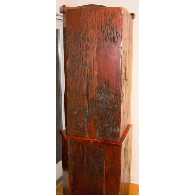 1990s Antique Railroad Hand Carved Red Jarrah Wood Corner Bookcase For Sale - Image 5 of 13