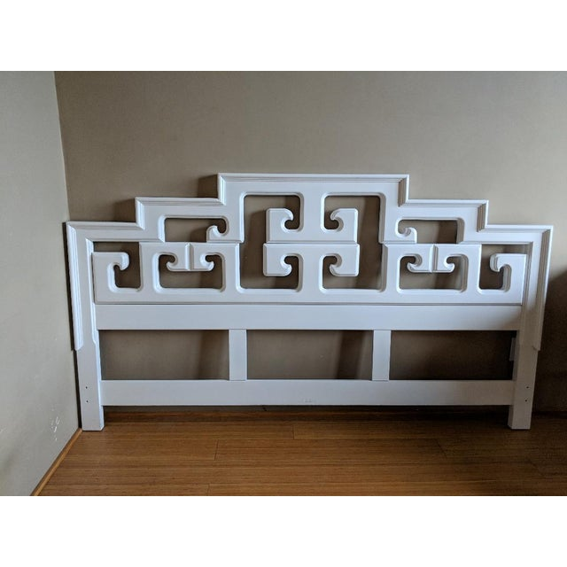 Late 20th Century 20th Century Chinoiserie Century Furniture King Size Headboard For Sale - Image 5 of 5