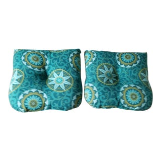 20th Century Russell Woodard Style Chair Pillows - a Pair For Sale