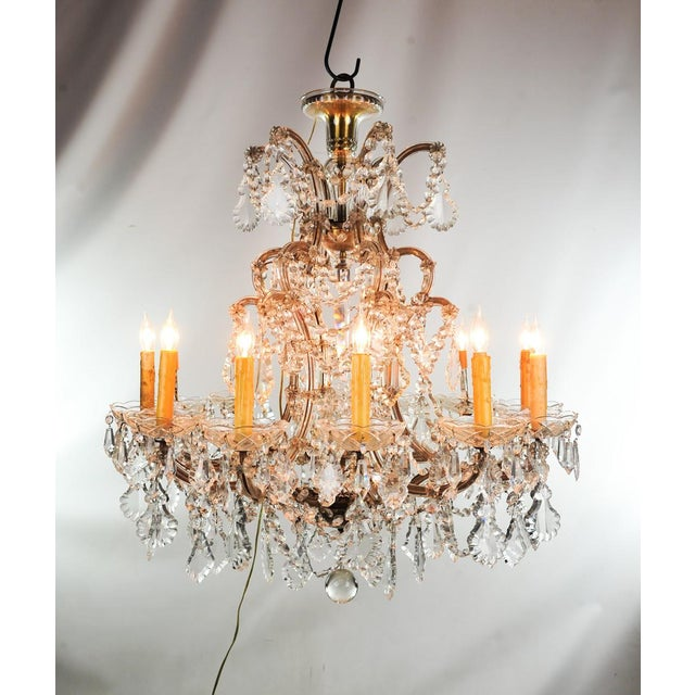 Antique traditional french lead crystal chandelier chairish antique traditional french lead crystal chandelier image 2 of 8 aloadofball Image collections
