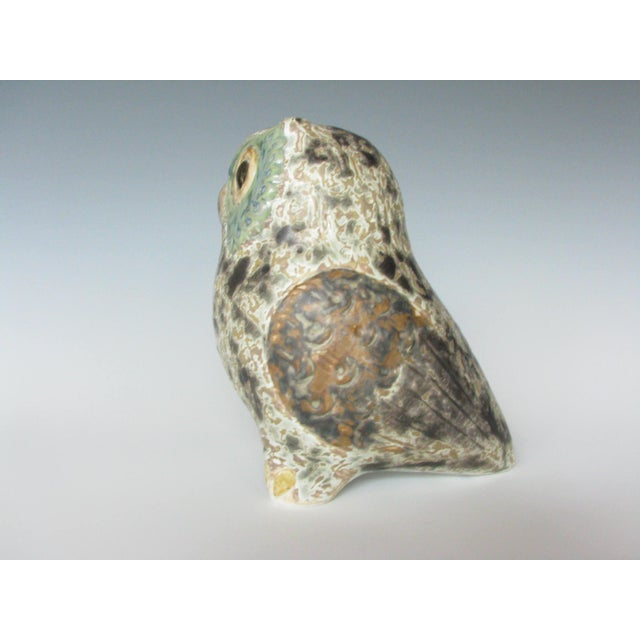 Mid 20th Century Vintage Lladró Little Eagle Owl Stoneware Figurine Sculpted by Antonio Ballester For Sale - Image 5 of 10