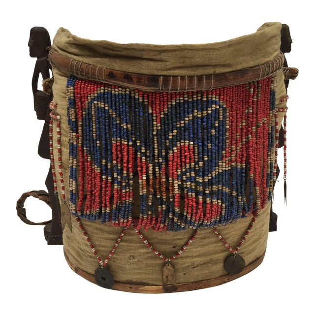 Dayak Kayan Borneo Beaded Basket Baby Carrier For Sale
