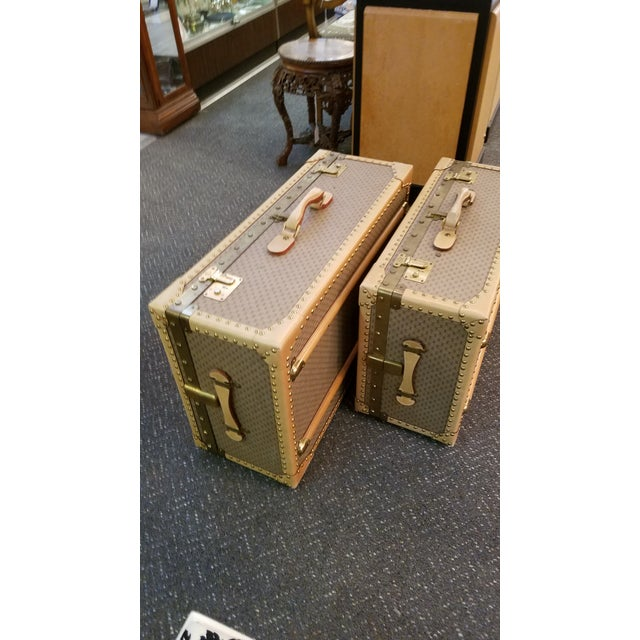 Animal Skin 1970's Original Gucci Logo Hard Sided Suitcases - a Pair For Sale - Image 7 of 12