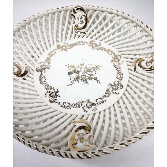 Spanish Lattice Weave Ceramic Dish - Image 4 of 11