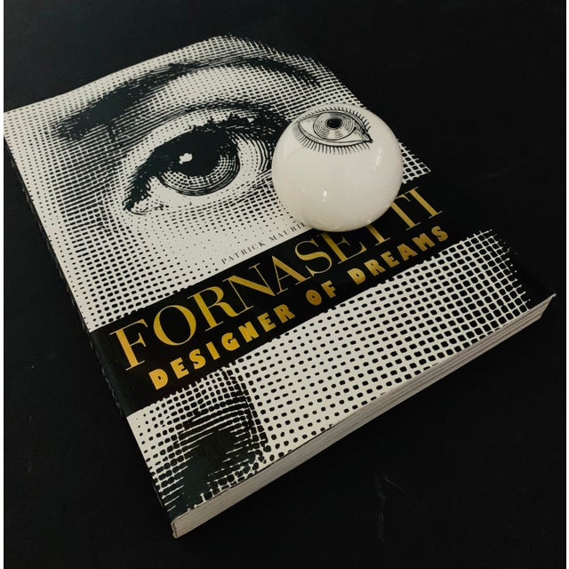 1960s Piero Fornasetti Surrealist Ceramic Eye Eyeball Paperweight For Sale In Palm Springs - Image 6 of 11