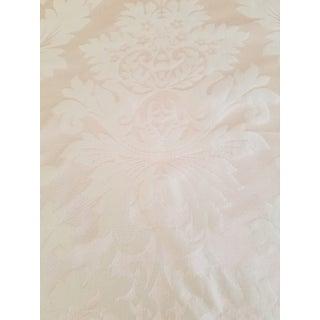 Scalamandre Peach Tone Silk Damask Fabric For Sale
