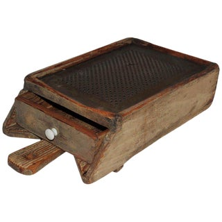 19th Century Wooden Grater With Drawer For Sale