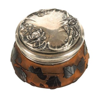 Galle Cameo Glass Lidded Jar For Sale