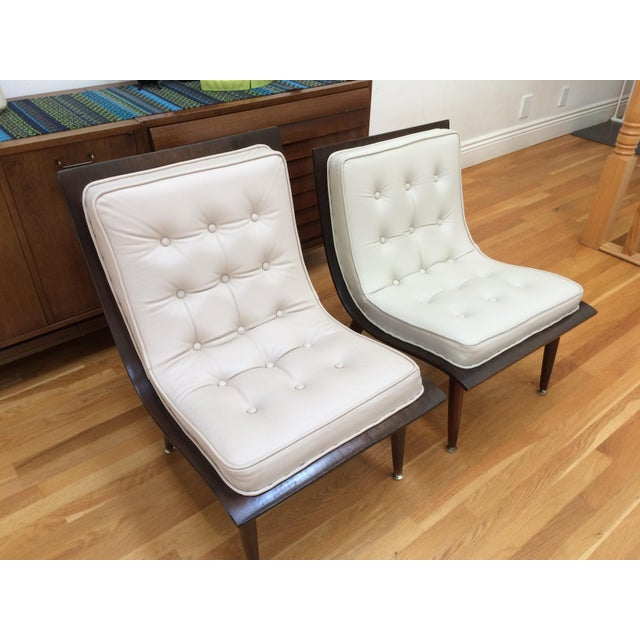 Mid-Century Carter Scoop Chairs - Pair For Sale - Image 4 of 8