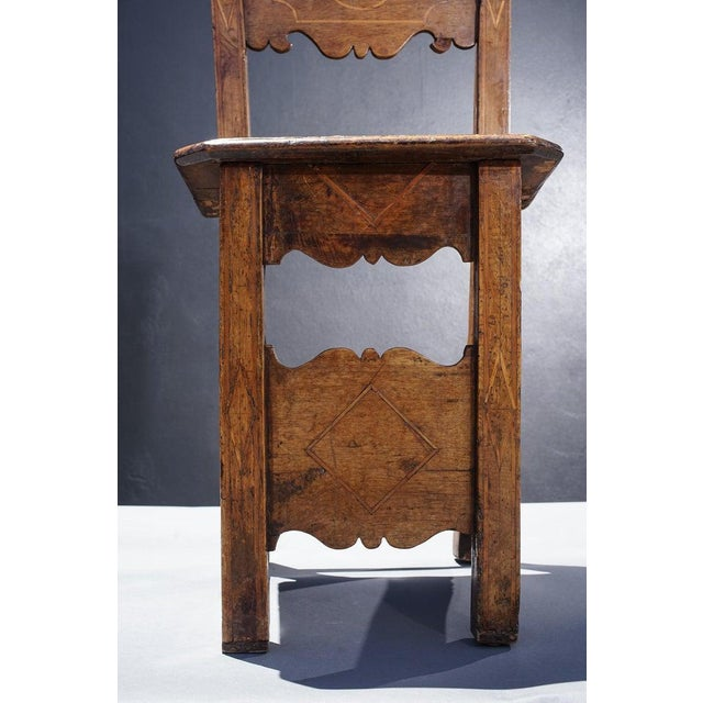 Traditional Group of Four 18th Century Inlaid Walnut Side Chairs For Sale - Image 3 of 6