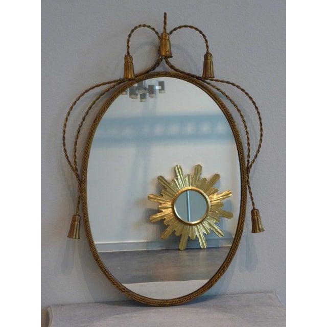 Hollywood Regency Gilded Frame Floral Mirror - Image 2 of 8