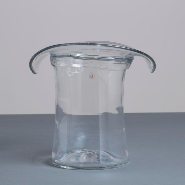 A Blenko Glass Top Hat Ice Bucket USA 1980s stamped - Image 3 of 3