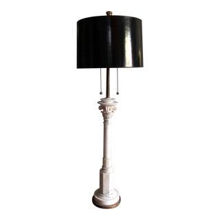 Vintage Alabaster Floor Lamp For Sale