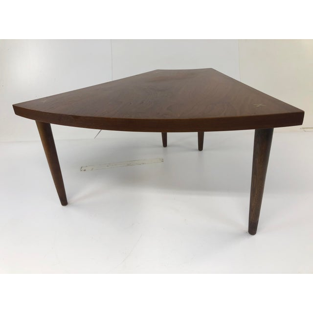 1960s Mid Century Modern Wedge Table - Merton Gershun for American of Martinsville For Sale - Image 5 of 13