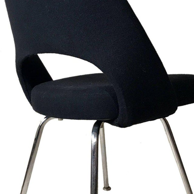 Knoll Knoll Eero Saarinen Executive Armchairs in Knoll Black Upholstery For Sale - Image 4 of 6