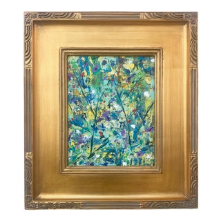 Contemporary Modernist Abstract Oil Painting on Canvas by Vincent Martin For Sale