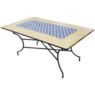 Moroccan Rectangular Mosaic Dining Table - Extra Large For Sale