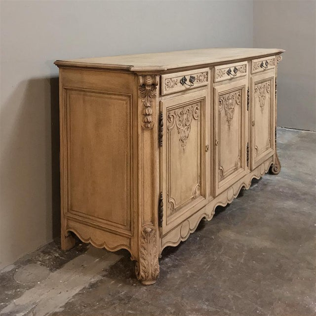 Late 19th Century 19th Century Country French Regence Stripped Oak Buffet For Sale - Image 5 of 13