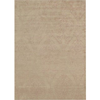 Modern Pure Silk Area Rug - 6' X 8' For Sale