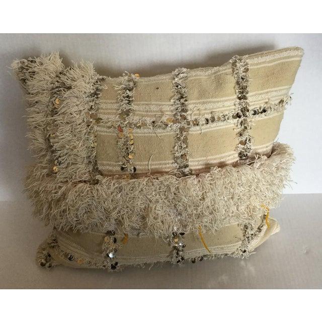 Moroccan Wedding Blanket Pillow - Image 2 of 4