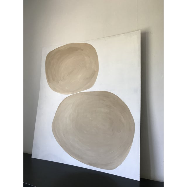 Abstract Rounded Abstract Oversized Painting For Sale - Image 3 of 6