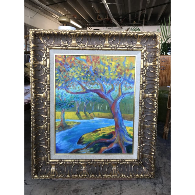 Mid 20th Century Modern Impressionist Style Landscape Oil Painting, Framed For Sale In San Antonio - Image 6 of 6