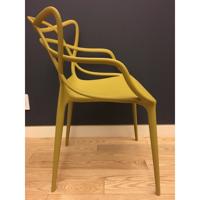 Memphis Kartell Mustard Yellow Masters Chairs - Set of 4 For Sale - Image 3 of 9