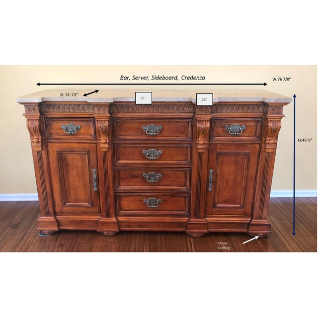 1990s Traditional Hickory White Wooden Credenza For Sale - Image 11 of 12