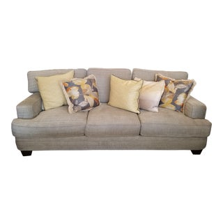 Henredon Down Filled Gray Sofa & 5 Pillows