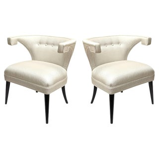 Mid-Century Modern Tommi Parzinger Veronese Side Chairs- A Pair For Sale