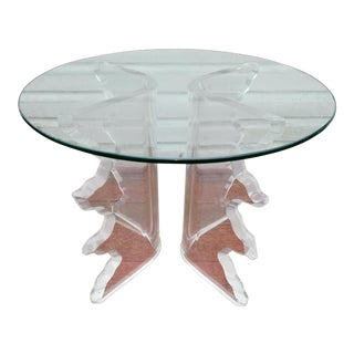Mid-Century Lucite Side Table For Sale