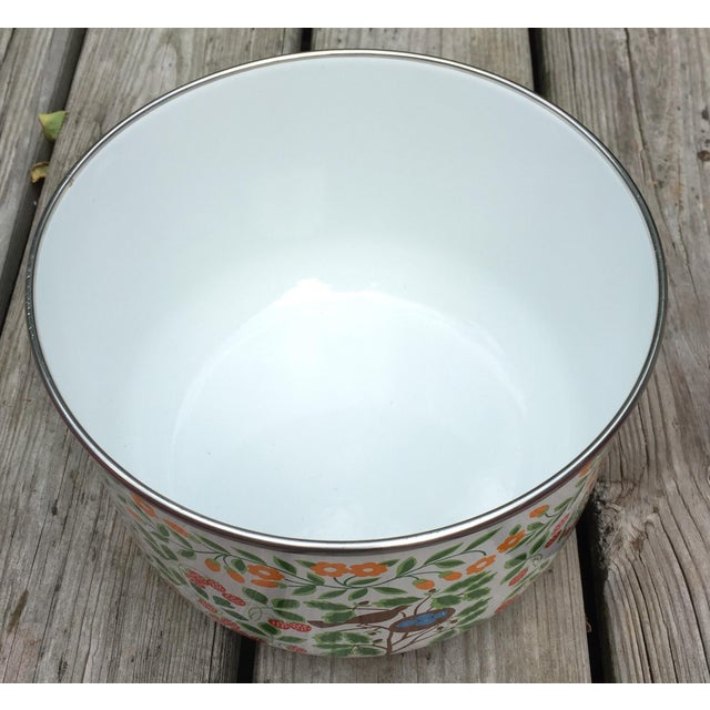 Colorfully Decorated Enamelware Bowl - Image 7 of 7