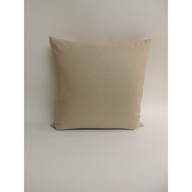 Tropical Sea Turtle Embroidery Decorative Pillow - Image 4 of 5