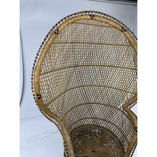 Vintage Mid Century Boho Chic Wicker Peacock Chair Preview