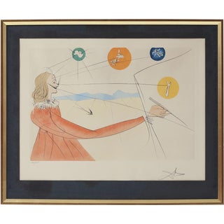Etching by Salvador Dali Dalian Prophecy For Sale