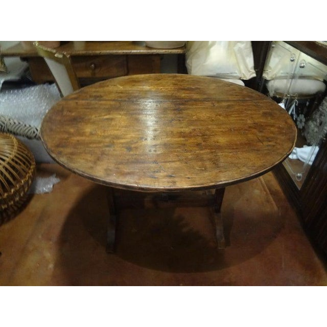 19th Century French Walnut Wine Tasting Table From Burgundy For Sale - Image 4 of 13