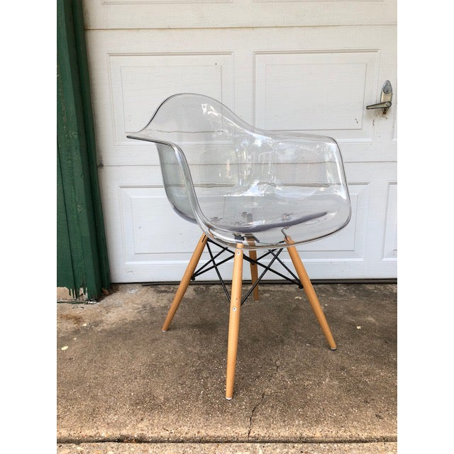 Acrylic Modern Acrylic Side Chair For Sale - Image 7 of 7