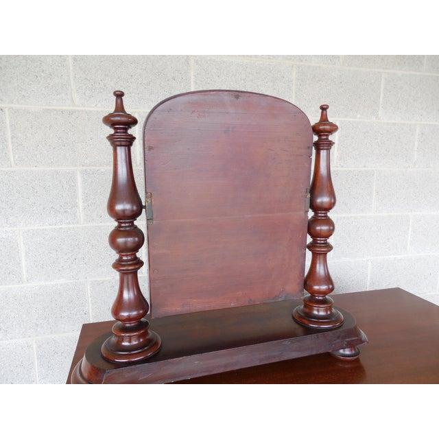 Antique Empire Period Mahogany Dressing Mirror For Sale In Philadelphia - Image 6 of 13