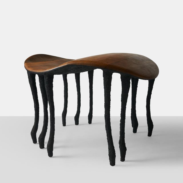 Contemporary Bended Center Table in Oak by Valentin Loellmann For Sale - Image 3 of 7
